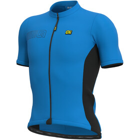 Alé Cycling Solid Color Block Kurzarm Trikot Herren blau